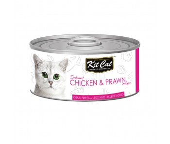 Kit Cat Canned Toppers - Deboned Chicken & Prawn 80g