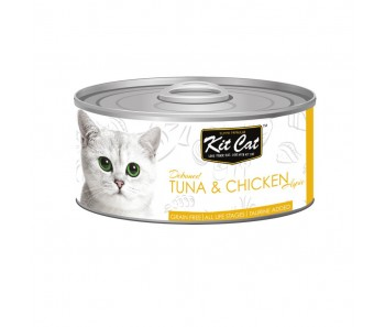 Kit Cat Canned Toppers - Deboned Tuna & Chicken 80g