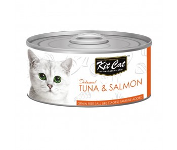 Kit Cat Canned Toppers - Deboned Tuna & Salmon 80g