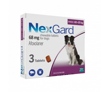 NexGard Chews For Large Dogs 10-25kg - Available in 3 & 6 Tablets