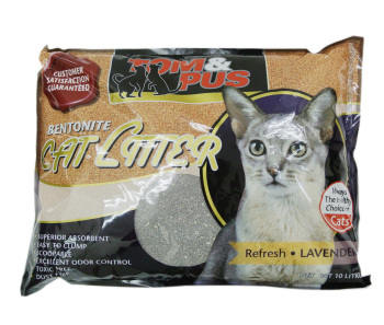 TOM & PUS BENTONITE LITTER – LAVENDER 10 L
