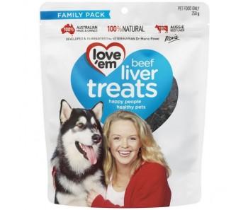 Love'em Beef Liver Treats– 250g