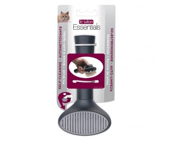 Le Salon Essentials Cat Self-Cleaning Slicker Brush