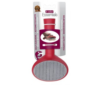 Le Salon Essentials Dog Self-Cleaning Slicker Brush