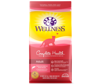 Wellness Cat Complete Health Salmon & Salmon Meal - Available in 5lbs & 12lbs