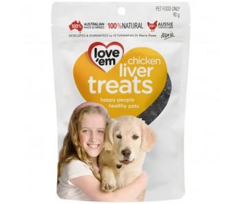 Love 'Em Chciken Liver Treats 90g