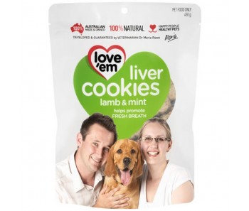 Love 'Em Lamb And Mint Liver Cookies 450g