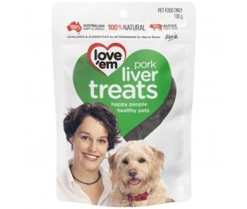 Love 'Em Pork Liver Treats 100g