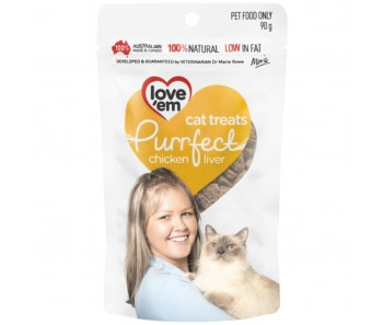 Love'em Purrfect Chicken Liver Cat Treats 90g