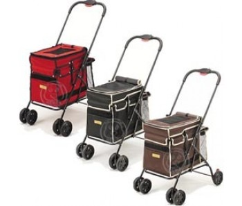 Marukan Pet Trolley Cart- Available in Black & Red