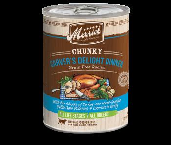Merrick Dog Canned Chunky Grain Free - Carver's Delight Dinner 360g