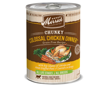 Merrick Dog Canned Chunky Grain Free - Colossal Chicken Dinner 360g