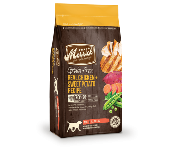 Merrick Dog Dry Grain Free Adult Chicken & Sweet Potato - Available in 4lbs, 12lbs & 25lbs