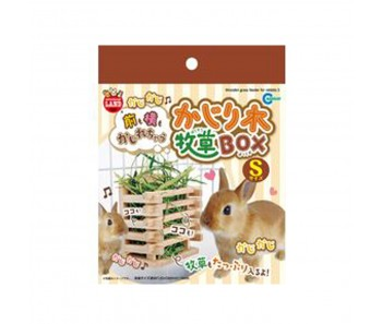 Marukan Wooden Hay Feeder for Rabbit - Available in S & M