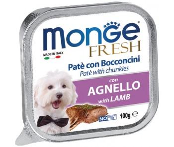 Monge Fresh Lamb Paté w Chunkies Tray 100g