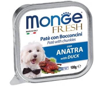 Monge Fresh Duck Pate w Chunkies Tray 100g