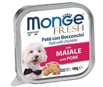 Monge Fresh Pork Pate w Chunkies Tray 100g