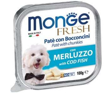 Monge Fresh Cod Fish Paté w Chunkies Tray 100g