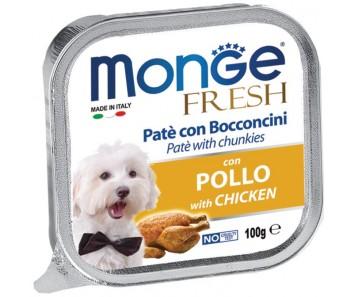 Monge Fresh Chicken Pate w Chunkies Tray 100g
