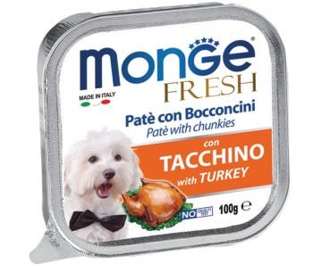 Monge Fresh Turkey Paté w Chunkies Tray 100g