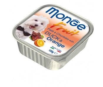 Monge Fruits Duck & Orange Paté w Chunkies Tray 100g