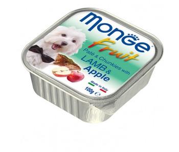 Monge Fruits Lamb & Apple Paté w Chunkies Tray 100g