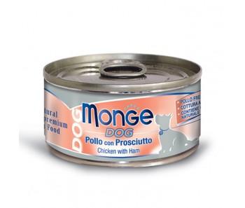 Monge Dog Canned Chicken & Ham 95g