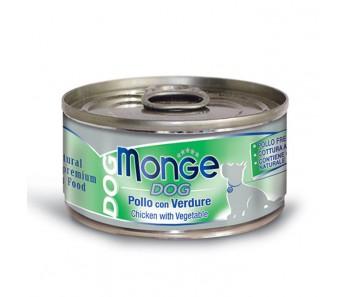 Monge Dog Canned Chicken & Vegetable 95g