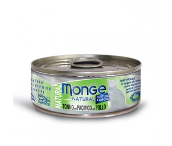 Monge Cat Canned Natural Yellowfin Tuna with Chicken 80g