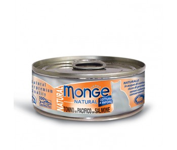 Monge Cat Canned Natural Yellowfin Tuna with Salmon 80g