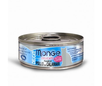 Monge Cat Canned Delicate Chicken with Squid 80g