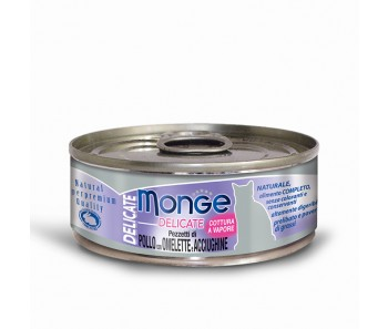 Monge Cat Canned Delicate Chicken with Omelette & Whitebait 80g
