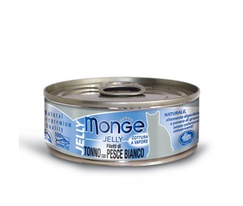 Monge Cat Canned Jelly Yellowfin Tuna with Seabream 80g