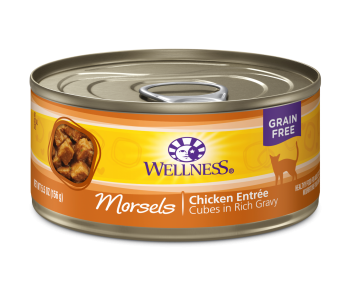 Wellness Cat Canned Complete Health™ Morsels - Cubes in Rich Gravy Chicken Entree 5.5oz