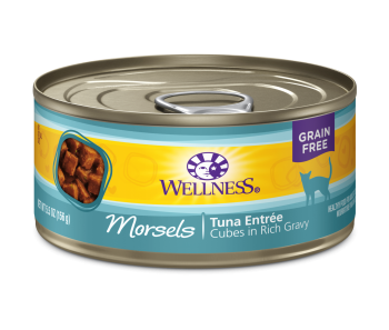 Wellness Cat Canned Complete Health™ Morsels - Cubes in Rich Gravy Tuna Entree 5.5oz