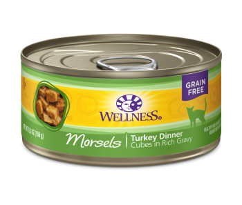 Wellness Cat Canned Complete Health™ Morsels - Cubes in Rich Gravy Turkey Dinner 5.5oz