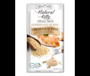 Natural Kitty Creamy Treats Superfood Blend – Chicken & Quinoa 4x12g