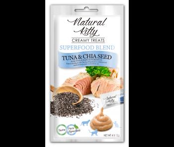 Natural Kitty Creamy Treats Superfood Blend – Tuna, Salmon & Blueberry 4x12g