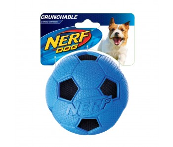 Nerf Dog Crunchable Soccer Ball M - Blue/Red