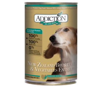 Addiction Dog Can New Zealand Brushtail & Vegetables 390g