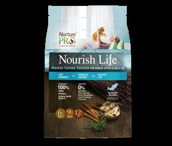 Nurture Pro Nourish Life - Adult Cat & Kitten Indoor Alaskan Salmon Formula - Available in 300g, 4lbs & 12.5lbs