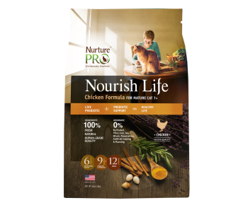 Nurture Pro Nourish Life - Cat Mature 7+ Chicken Formula - Available 300g, 4lbs & 12.5lbs