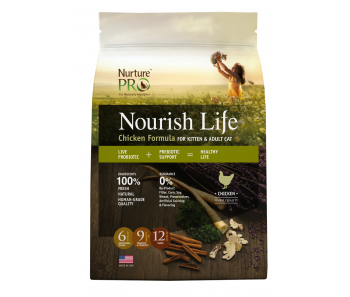 Nurture Pro Nourish Life - Adult Cat & Kitten Chicken Formula - Available in 300g, 4lbs & 12.5lbs