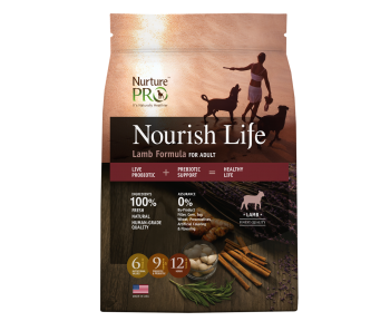 Nurture Pro Nourish Life - Dog Adult Lamb Formula - Available in 4lbs, 12.5lbs & 26lbs