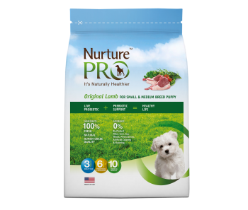Nurture Pro Original - Dog Puppy Small & Medium Breed Lamb - Available in 4lbs, 12.5lbs & 26lbs
