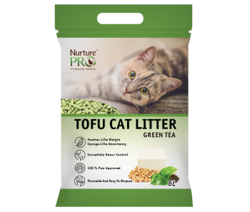 Nurture Pro Tofu Cat Litter Green Tea 6 L