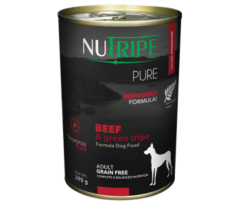 Nutripe Dog Canned Pure Beef & Green Tripe Formula 390g