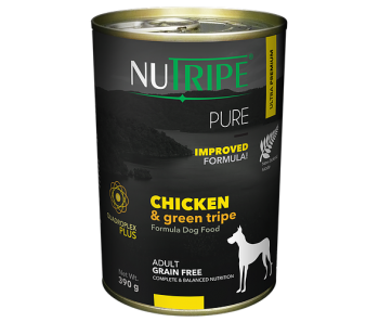 Nutripe Dog Canned Pure Chicken & Green Tripe Formula 390g