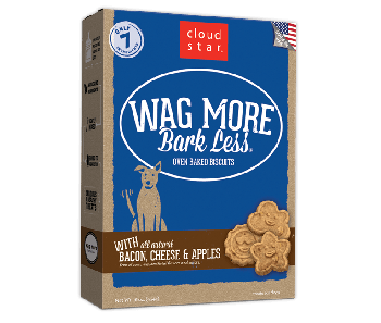 Cloud Star Wag More Bark Less Oven Baked Bacon, Cheese And Apples Dog Treats 16oz
