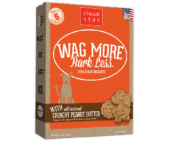 Cloud Star Wag More Bark Less Oven Baked Crunchy Peanut Butter Dog Treats 16oz